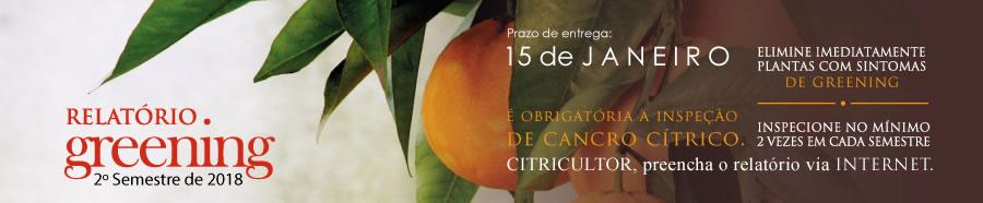 Relatório Cancro Cítrico & Greening 1º semestre de 2019