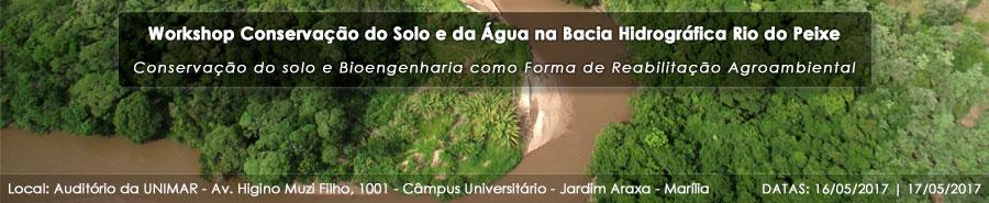 Workshop: Conservação do Solo e da Água na Bacia Hidrográfica Rio do Peixe