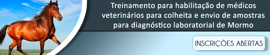 Treinamento para habilitação de Médicos Veterinários para colheita e envio de amostras para diagnóstico laboratorial de Mormo